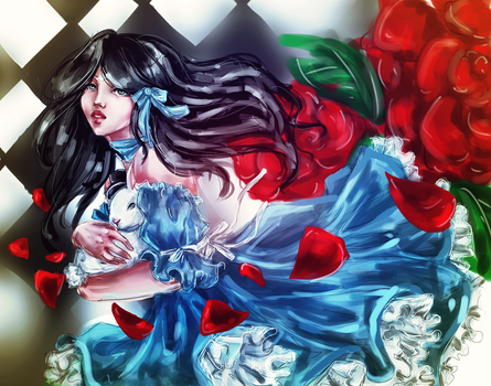 Chang'e as Alice in Wonderland by BlueLov3