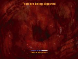 You are being digested again by She-Nomad