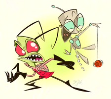 Invader Zim by Themrock