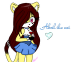 :Art Trade: Abril The Cat by rubimedeline