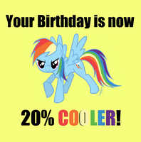 Your Birthday is now 20% COOLER by issabissabel