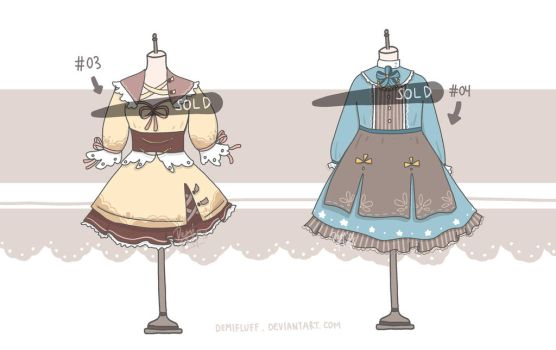 [CLOSED] Adoptable Set 2 by Demifluff