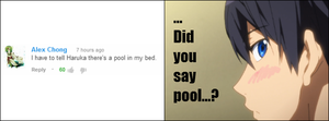 Haruka there's a pool in my bed by NyoronApple
