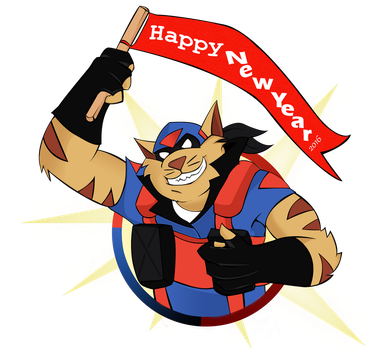 Happy New Year from T-Bone by AngStrikke24