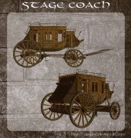 3D Stage Coach by zememz