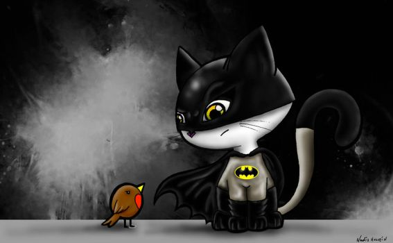 Batcat and Robin by Nadz007