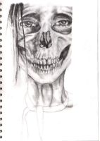 anorexic skull girl by libbi