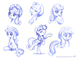 Applejack Sketches by KP-ShadowSquirrel