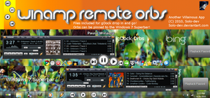 Winamp Remote ORBS_gDock+7bar_ by SuprVillain