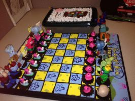 Spongebob Squarepants Chess Board OOAK by alillama88