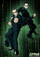Neo and Agent Smith - Matrix by dannysulca