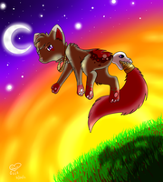 Crimson Sky by eevee4everX3