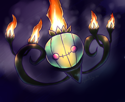 Shiny Chandelure by Chico-2013