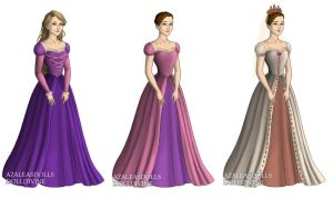 Rapunzel (Tangled) outfits by sarasarit