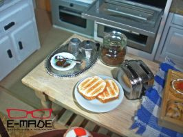 Preparing toasts and coffee by E-made