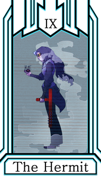 Tower Tournament Tarot Card - The Hermit by Ojeuce