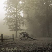 Cannon in Fog by bmshaffer