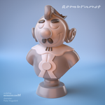 Rembrandt comic character 3D print model by m7