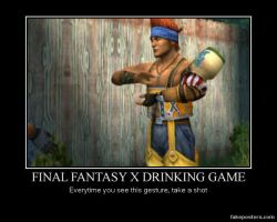 Poster: FF X - Drinking Game by TheMoonclaw