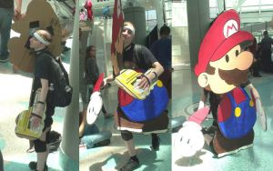 Behind the scene of Mario character at AX 2013 by trivto