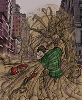 Spider-Man vs. Sandman by Green-Mamba