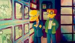 Mr. Burns and Smithers by MissNeens