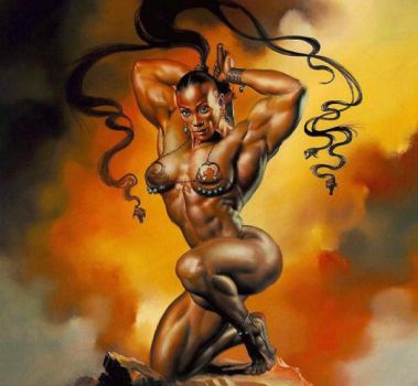 Black african goddess by Musclelicker