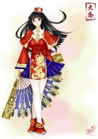 Daqiao in Dynasty warriors 7 by Draven4157