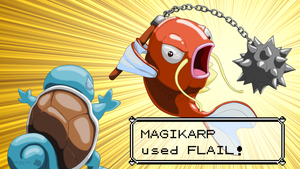Magikarp used Flail! by FluffyBlueCow