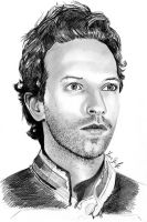 Chris Martin drawing by LenaStinke