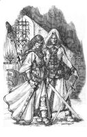 raistlin and dalamar by acts2028