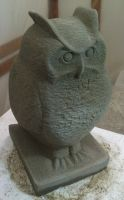 Owl Eule Stone by stone-sculptor