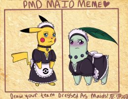 PMD - Maid Meme by FoxxBrush