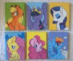 Mane Six Portraits (for sale) by CutePencilCase