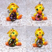 Polymer Clay Chicks Keychain by ArtzieRush