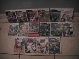 my Wii game collection by corneilamar