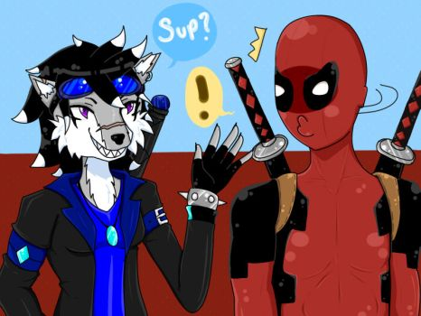 Oh hi Deadpool by Hishimy