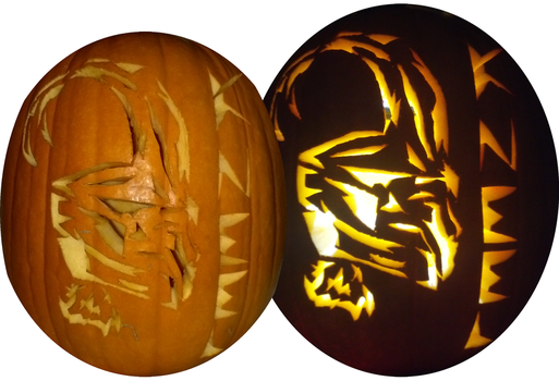 Loki Pumpkin Carving by lizluvsanime2