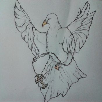 Dove with Rosary by WendePatrella