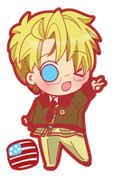APH: chibiamerica by HoneyHamster