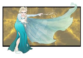 Elsa - Under Attack by Millster-Ink