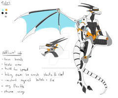 Full Character Adopt - Mecha Anthro Dragon - SOLD by ShadowInkAdopts