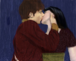 Kiss in the Rain - Maiko by OneAfterNineOhNine
