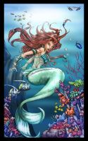 little mermaid  in collor finished by Zupano