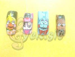 .:Nails art:. Five nights at Freddy's 2 by yeidsil