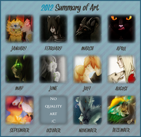 2012 Art Summary by samuraj-SZADZIK