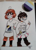Day 10 - Frisk and Chara(Undertale) by DesDraws