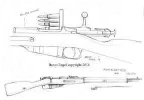 Mosin-Nagant rifle study by Baron-Engel