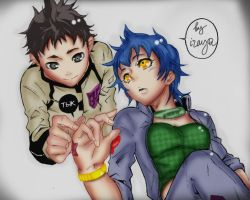 ganta and azami by izachi