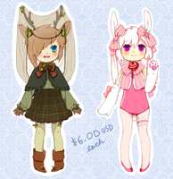furry ADOPTABLES 2 (open) by mikimanni